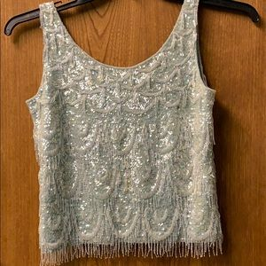 Tops - Vintage beaded shimmy top.